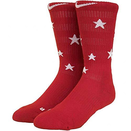 Nike Unisex Elite Stars Basketball Crew Socks (Red/White/Blue)