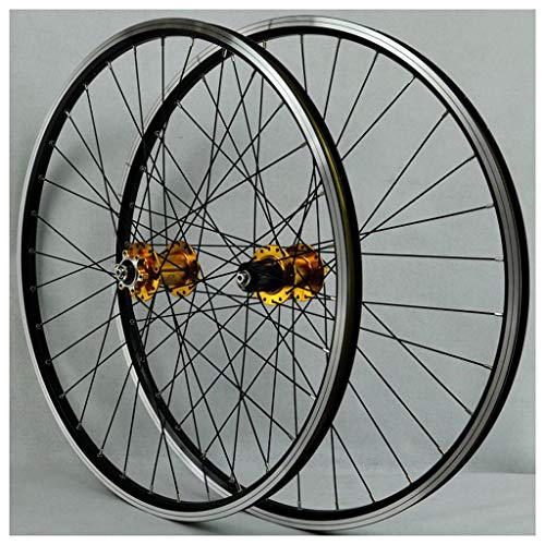 Road Bike Cycles Wheelset 26 Inch, Double Wall V-Brake Quick Release 32 Hole 8 9 10 11 Speed Compaible Cassette (Color : C)
