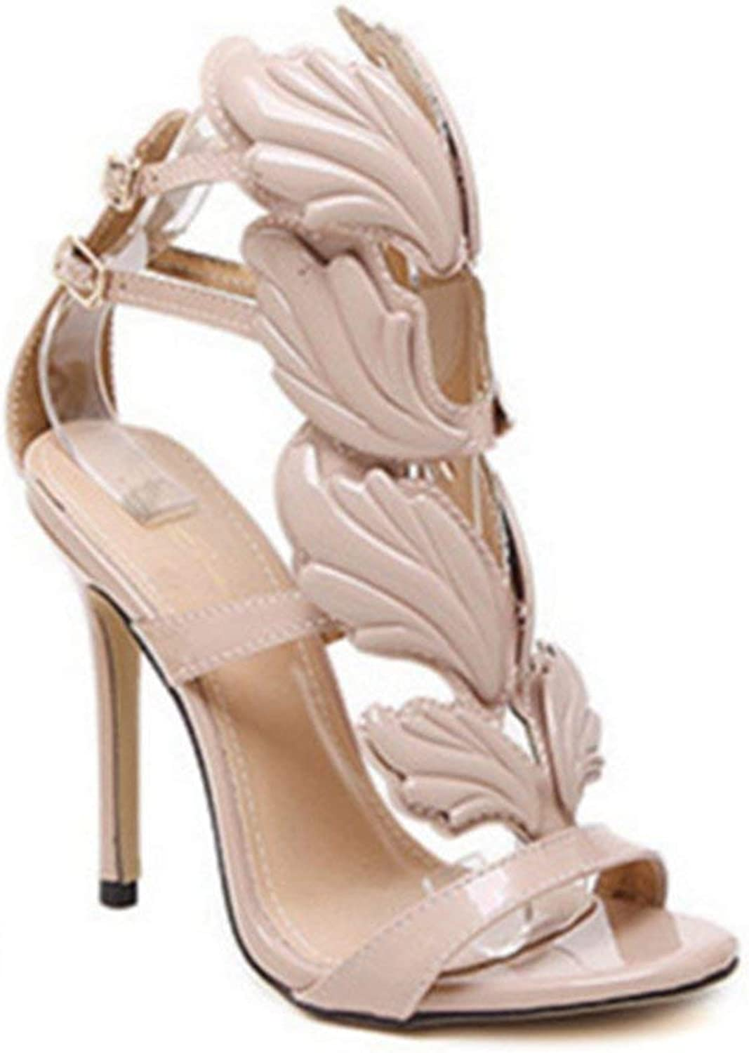 Elsa Wilcox Women Ankle Strap Buckle Sandals Peep Open Toe Platform Anti-Slip Dress Party Pump Stiletto High Heel