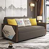 Home Equipment NUEVO Sofá convertible Cama plegable de tela extraíble Loveseat Futón Sofá con polea y almohada Sentado y almacenamiento para dormir Sofá cama Asiento Muebles para sala de estar de a