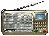 Tragbare Karten-Lautsprecher-MP3-Player FM Radio WMA/WAV mit LCD-Bildschirm, LED-Taschenlampe (Color : C)