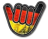 Vinyl Stickers Deutsche Flagge No Worries Hand Aufkleber