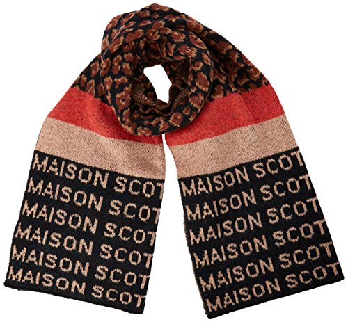 Scotch & Soda Maison Damen Knitted Scarf in Mix & Match Pattern Schal, Mehrfarbig (Combo A 17), One Size (Herstellergröße: OS)