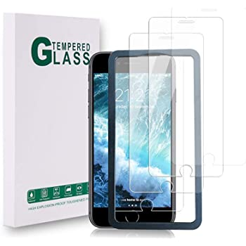 [3 Pack] Screen Protector for iPhone SE 2020, iPhone 8/7/ 6s/ 6 4.7-Inch, [Bubble Free] [Advanced HD Clarity] [9H Hardness] Tempered Glass Film