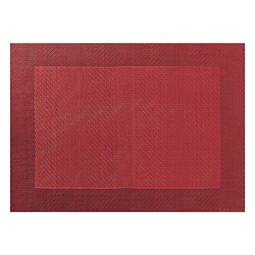 ASA Selection Set de table en PVC avec bord tissé rot Granatapfel