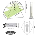 Bessport Camping Tent 1 and 2 Person Lightweight Backpacking Tent Waterproof Two Doors Easy Setup Tent for Outdoor… 5