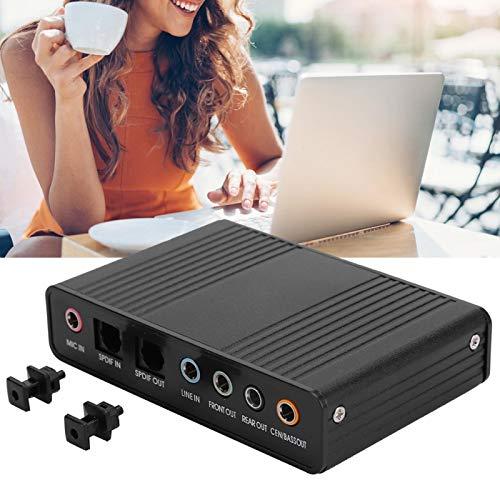 Bigking Tarjeta de Sonido, DM-HD10 USB 5.1 Adaptador de Audio de Tarjeta de Sonido Externa para computadora para grabación de Karaoke