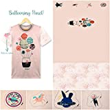 Emily&Joe's fabrics Jersey Panel Ballooning Katze rosa