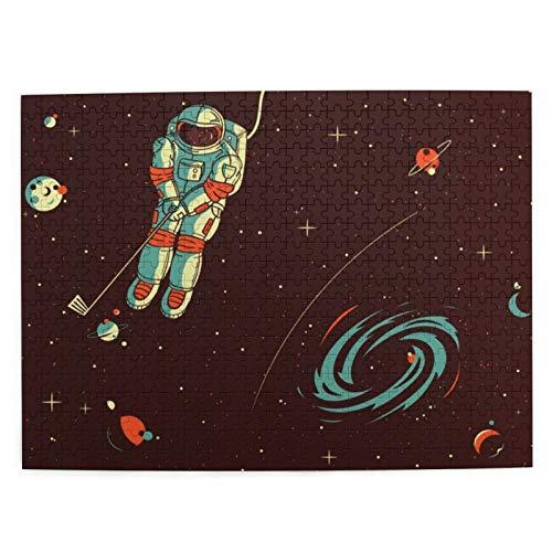 Rompecabezas Puzzle 500 Piezas Astronautas y Planetas Inteligencia Jigsaw Puzzles para Adultos Niños Juegos