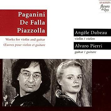 Paganini, de Falla, Piazzolla: Works For Violin And Guitar
