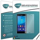 Slabo 4 x Bildschirmschutzfolie kompatibel mit Sony Xperia M4 Aqua Bildschirmfolie Schutzfolie Folie Zubehör Crystal Clear KLAR