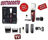 IdorStore Professionelle Haarschneidemaschine mit 2 wiederaufladbaren Batterien aus Keramik +...