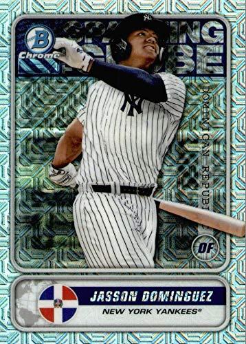 2020 Bowman CHROME - Jasson Dominguez - MEGA BOX MOJO REFRACTOR - Spanning The Globe - New York Yankees Baseball Rookie Card RC #STGJD