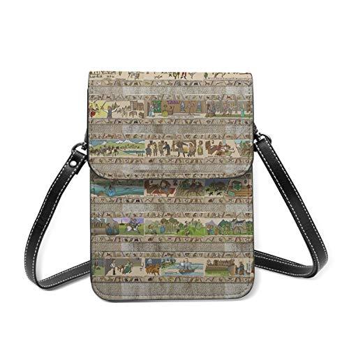 Kleine Umhängetasche, The Whole Gabeaux Tapestry Story Of Outlander Crossbody Tasche Handy Geldbörse Geldbörse Leichte Crossbody Handtaschen für Frauen Mädchen