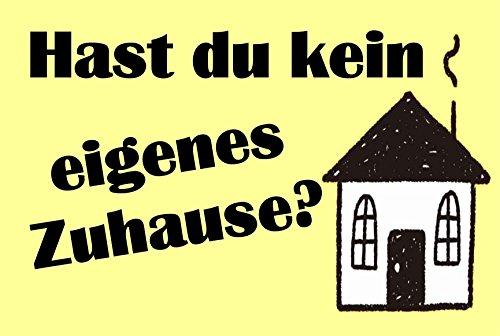 Creativ Deluxe Hast du nicht eigen huis - deurmat bedrukt deurmat binnenmat vuilmat grappig motief voetmat