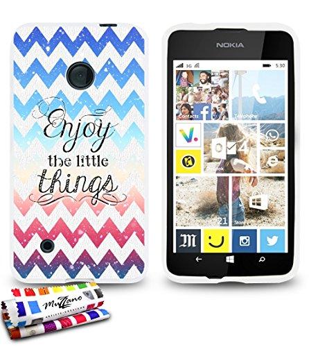 weiche Schutzhülle schmal Nokia Lumia 530dünn, Motiv Exklusives [Enjoy 1] [weiß] von MUZZANO + Eingabestift und Reinigungstuch Muzzano® angeboten–Der Schutz kratzfest ultimative, elegante und nachhaltige für Ihr Nokia Lumia 530