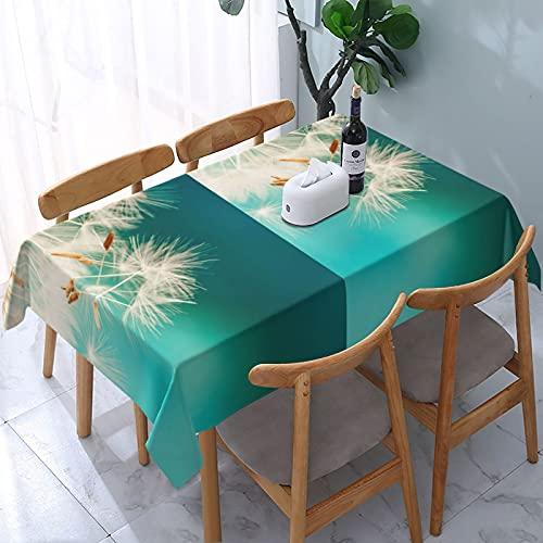 Flor mullida impresión a prueba de derrames e impermeable, lavable a máquina, mantel para uso al aire libre, fiestas | Acción de Gracias/Navidad, 137 x 183