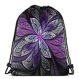 Ahdyr La Chanteuse Violett - Mochila de hombro con cordón para el deporte, mochila escolar, gimnasio, peso ligero