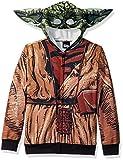Star Wars Big Boys' Yoda Sublimated Fleece Zip Costume Hoodie, multi, Medium-12