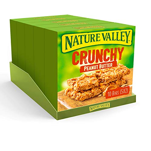 Nature Valley Crunchy Peanut Butter Cereal Bars 42g (Pack of 25 bars) (5 packs of 5 bars)