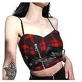 SHINEHUA Damen Strap Bandeau Crop Tank Top Steampunk Gothic Korsett Korsage Corset BH Bluse Tops...