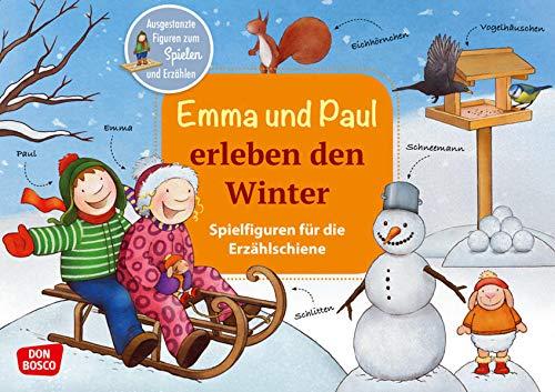 Emma und Paul erleben den Winter. Spielfiguren für die Erzählschiene. Ausgestanzte Figuren zum Spielen und Erzählen (Emma-und-Paul-Spielfiguren für die Erzählschiene)