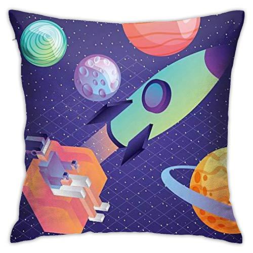 N/Q Throw Pillow Cover Man Sitting In Sofa 18x18 Inches Pillowcase Home Decorative Square Pillow Case Cushion Cover