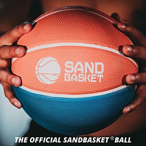 Pelota de Sand Basket AICS profesional reglamentaria, talla 4 y 6, de goma de interior y exterior, para niños, niño, hombre, mujer, adultos, mini económico (naranja, azul y amarillo, talla 6)