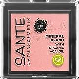Sante Naturkosmetik Mineral Blush 01 Mellow Peach, Rouge, Seidig-weiche Textur, Bio-Extrakte, Natural Make-up, 5 g