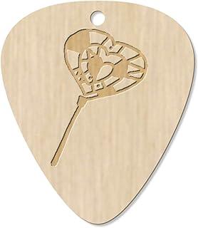 7 x 'Heart Lollipop' Guitar Picks / Pendants (GP00020850)