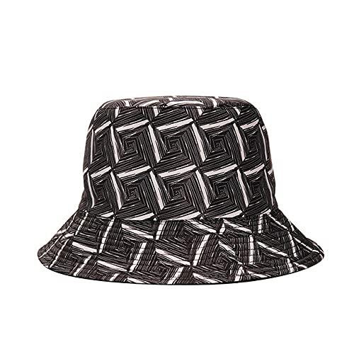 Kuletieas Gorro Pescador Sombrero de Cubo con Estampado de Hojas Reversibles a la Moda, Gorras de Verano para el Sol para Mujeres y Hombres, Sombrero de Pescador
