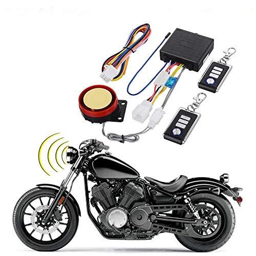 BONATECH DC12V Motorcycle Anti-Theft Alarm Security System Remote Control Engine Start Bike Anti-Hijacking Cutting Off Remote Engine Start Arming Disarming