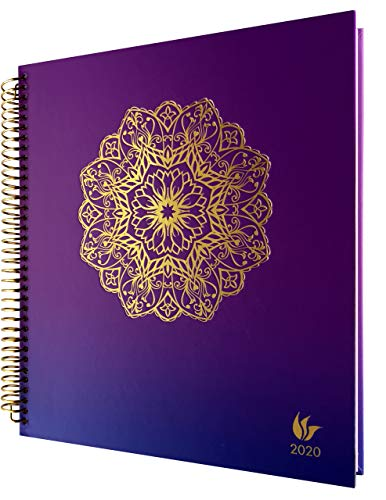 InnerGuide 2020 Planner - 2020 Calendar Year - 8x9 Inch Appointment Book - Daily Weekly & Monthly - by Inner Guide Life Planners (Radiance Cover)