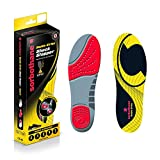 Sorbothane Double Strike Insoles - Red/Grey, Size 10 EU 44-45