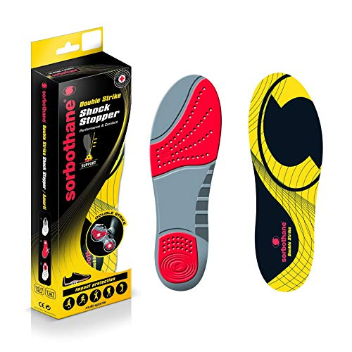 Patterson Medical Ltd Sorbothane Double Strike Insoles - Red/Grey, Size 3-4 EU 35-37