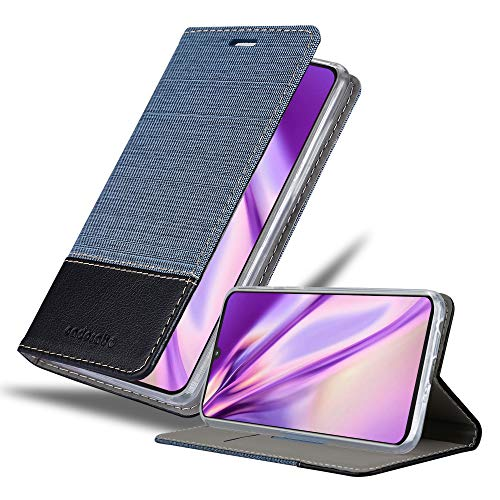 Cadorabo Hülle für Motorola Moto Z4 in DUNKEL BLAU SCHWARZ - Handyhülle mit Magnetverschluss, Standfunktion & Kartenfach - Hülle Cover Schutzhülle Etui Tasche Book Klapp Style