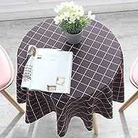 テーブルクロス四季用田園風テーブルクロス北欧テーブルカバー (Color : Brown, Size : 160cm(63in))