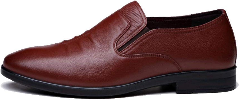 WLFHM Autumn Men's Dad shoes Leather Lazy Casual shoes Breathable Men's shoes Single shoes