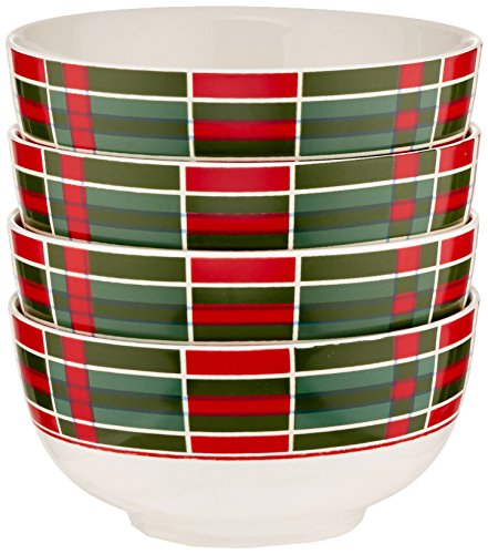 Lenox Vintage Plaid Bowls, Set of 4
