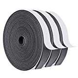 Window Insulation Tape-3 Rolls, 3/4 Inch Wide X 1/8 Inch Thick Weatherstrip Adhesive Sound Proof Closed Cell Window Insulation Foam Strip Total 50 Feet Long(17ft x 3 Rolls )
