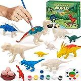 Hiveseen Dinosaurio Pintar Juguetes, 3D DIY Dinosaurio Figuras Pintar Manualidades Incluir...