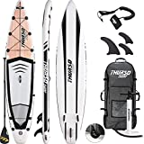 THURSO SURF Expedition Touring Inflatable Stand Up Paddle Board SUP 11'6 x 30'' x 6'' Two Layer Deluxe Package Includes Carbon Shaft Paddle/2+1 Quick Lock Fins/Leash/Pump/Roller Backpack (2019)
