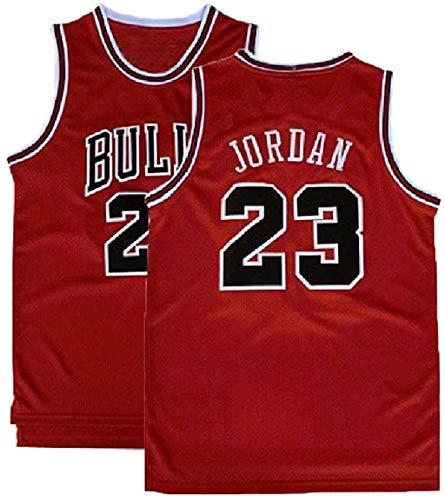 NSEHIK Men's #23 Jerseys Basketball Jerseys Retro Jersey Red(S-XXL) (Red, M)