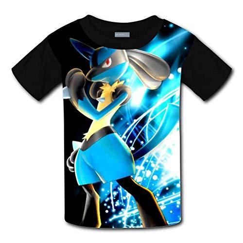 KQJH Kinder/Jugend L-ucari-o T-Shirts 3D Kurzarm T-Shirts für Mädchen Jungen