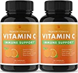 Nobi Vitamin C Capsules - 2000MG Vitamin C for Immune Support Immune Booster for Adults - 2 Pack