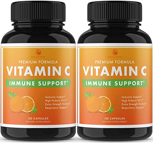 Nobi Vitamin C Capsules - 2000MG Vitamin C for Immune Support Immune Booster for Adults - 2 Pack