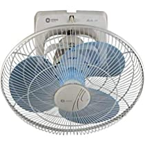 (Renewed) Orient Electric Roto-53 400 MM high speed wall mounted cabin fan (White & Blue)
