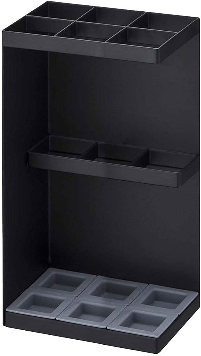 Umbrella Stand Umbrella Rack Household Floor-Standing Umbrella Bucket Corner Storage Umbrella Shelf Hotel Lobby Umbrella Rack (color   Black)