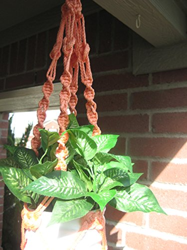 """Handmade Apricot 26"""" Macrame Plant Hanger Perfect Gift Idea for Birthdays Mothers Day and all occasions"""