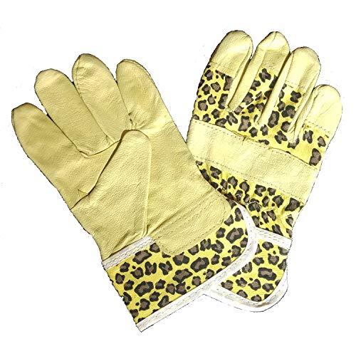 Land-Haus-Shop Kinder Arbeitshandschuhe Gartenhandschuhe Kinder Arbeits Garten Handschuhe (Dino)
